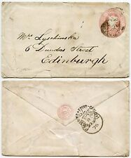 RAILWAY TPO EDINBURGH CARLISLE SORTING TENDER on 1d PINK STATIONERY 1876