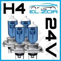 4 X H4 100w 24v 472 Mercedes Atego Actros Mp2 Truck Xenon 24 Volt White Bulbs