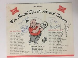 Vintage 1979 Dinner Program signed by Bart Starr, Ray Scott-Emcee, Bud Selig