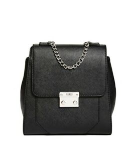 ★ GUESS* Dazzling Chain Black Ladies Backpack ★