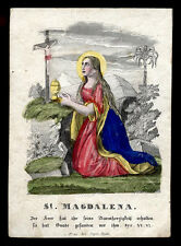 santino incisione 1800 S.MARIA MADDALENA  dip.a mano RUDL