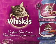 12 WHISKAS SEAFOOD SELECTIONS VARIETY PACK 1.2kg-2.65lbs FROM CANADA