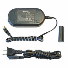HQRP AC Adapter + DC Coupler for Canon PowerShot ELPH 510 / 520 / 530 HS, NB-9L