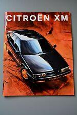 Brochure Citroen XM Hatchback, Estate, Petrol & Diesel 1992