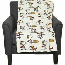 New Berkshire Blanket Snoopy Throw Peanuts Red Baron Flying Ace 55x70
