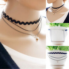 New Fashion Women Creative Ethnic Style Multilayer Jewelry Lace Necklace Random