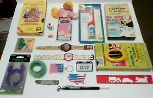 Junk Drawer Lot , See Pictures Watches , VHS tapes , Snoopy Tooth brush , cable