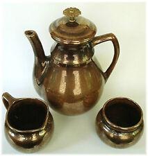 Vintage Art Pottery Hyalyn Georges Briard Teapot Set