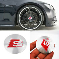 4x Wheel Center Hub Caps Emblem RS S LINE Badge Decals Stickers All Model S258