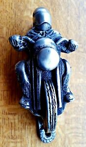 Motorcycle PEWTER Door Knocker - heavy antiqued cast from artisan sculpture