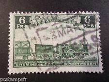 BELGIQUE 1935, timbre COLIS POSTAUX 192 TRAINS, oblitéré, PARCEL POST USED STAMP