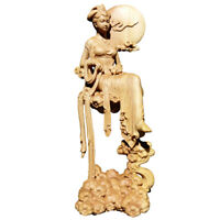 New Boxwood Wood Carving Chinese Chang'e Statue Mythological Figure Sculpture