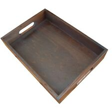 Wooden Serving Tray 35cmx25cmx 6.5cm in Dark Brown Color