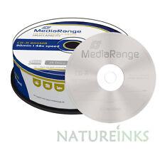 25 MediaRange Di marca CD R Dischi Vuoti 48x 90 minuti 800MB 90 minuti MR221
