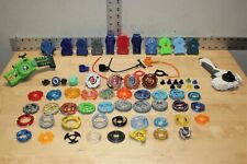 Huge Lot Of Beyblades Metal Fusion, Launchers & Other Beyblades For Parts