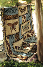 Back To The Garden Butterfly Butterflies Tapestry Afghan Throw