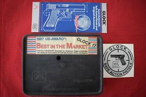 Vintage Glock 19 Original Tupperware Box for Gen 1 or Gen 2 & 1990 Brochure