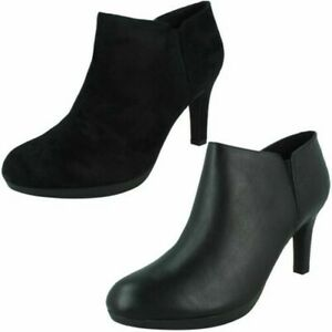 Ladies Clarks Heeled Ankle Boots Adriel Lily