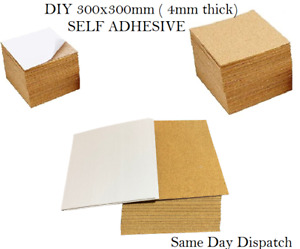 Natural Cork Tiles for Floor or Wall   300mm x 300mm   4mm Thick