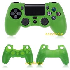 EASYFINDUS FOR Sony PS4 Silicon Case Sleeve skin bag Cover Controller green new