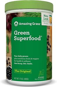 NEW Amazing Grass Green Superfood The Original Drink Powder 60 Servings