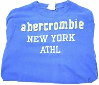 ABERCROMBIE & FITCH Boys T-Shirt Top 13-14 Years Large Blue Cotton  BI10