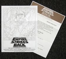 STAR WARS REPRO 1983 . RADIO KUSC-FM YODA ADVERT PROMO & RECIPE . NOT DVD