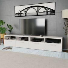 vidaXL 2x TV Cabinets Chipboard 95x35x36cm White Home HiFi Storage Stand Unit