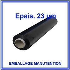 3 ROULEAUX FILM ETIRABLE NOIR 23 µm étirable - LIVRAISON GRATUITE