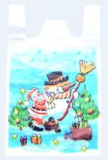 1000 Tragetaschen / Plastiktüten 30+18x55cm 13my Weihnachten Weihnachtsmann