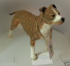 COUNTRY ARTISTS STAFFORDSHIRE BULL TERRIER BRINDLE STANDING CA06293  MINT IN BOX