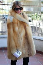 Red Fox Fur abrigo Rotfuchs Jacke pelzmantel PELLICCIA FOURRURE Renard Mexa Volpe