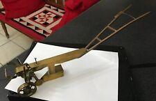 Vintage Plough Model Miniature Brass Farming Cultivator Plough Fantastic Detail