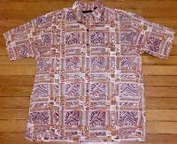 Tori Richard Hawaiian Maharaja Cotton Lawn Short Sleeve Shirt Size Large