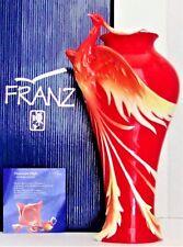 "FRANZ PORCELAIN ""PHOENICIAN FLIGHT"" LARGE 13+"" VASE~CHINESE PHOENIX BIRD FZ02108"