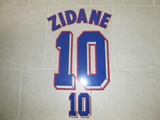 Flocage ZIDANE pour maillot équipe de France blanc 1998 patch shirt -