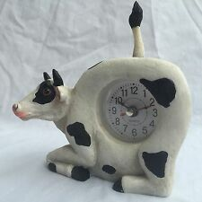 4th of JULY SALE Critter Clock Holstein Cattle Cow Tabletop Wagging Tail
