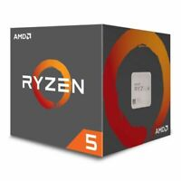 AMD Ryzen 5 1600 CPU with Wraith Cooler, AM4, 3.2GHz (3.6 Turbo), 6-Core, 65W, 1