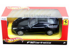 HOT WHEELS BCJ80 FERRARI F12 BERLINETTA 1/43 DIECAST BLACK