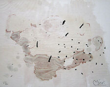 "JOAN MIRO Hand Signed 1963 Original Color Lithograph from ""Trace sur l'eau"""