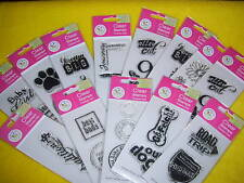 LOT OF 13 PACKS OF SCRAPPY CAT CLEAR STAMPS, NEW