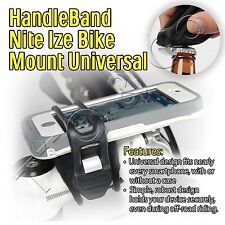 HandleBand Nite Ize Bike Mount Mobile iPhone X 10 8 7 7s 6 Plus 5s Samsung S6 S7