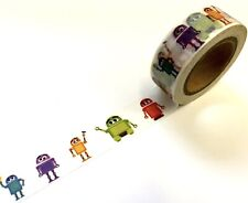 Colorful Robot Was 00006000 hi Tape Papercraft Planner Supply Scrapbook Outer Space Party