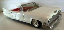 """Lg 11"""" Japan Bandai Tin Friction 1960 Cadillac Convertible Car Works"""