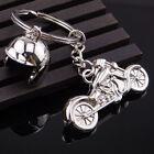 1pcs Creative Motorcycle Spring Helmet Key Chain Ring Keychain Keyring Key Fob