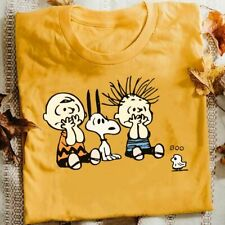 Snoopy Peanuts Cartoon Funny Boo Scared Halloween T-Shirt