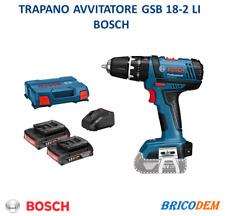 Gsb 18v-2 trapano Avvitatore a Batteria Compatto Bosch Blu con percussione