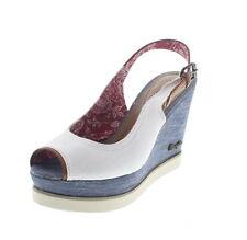 Sandali e scarpe zeppe bianchi Wrangler per il mare da donna