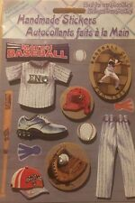 Handmade Stickers Baseball 3D Style Scrapbooking Card Making New Sealed