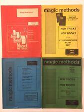 Lot 4 Vintage 90s Magic Methods Magician Catalogs Tricks Cards Close Up Stage